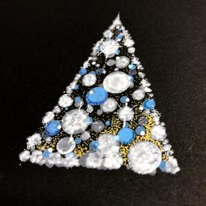 クリスマスツリー☆ 点描曼荼羅&ノワールアート