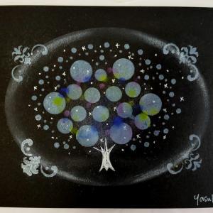 心惹かれる♡ノワールアートの光の樹を体験してくださいました。◕‿◕。