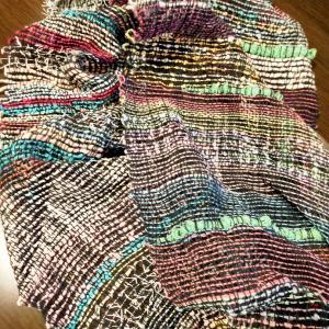 念願のさおり織りでマフラーが完成しました(✯ᴗ✯)