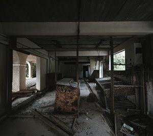 廃墟になった、修学旅行の宿