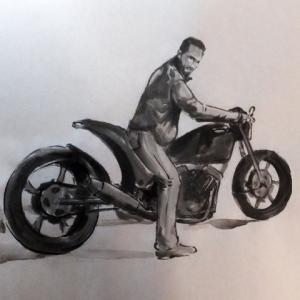 バイク落書き