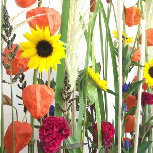暑い夏でも季節感じて ~お盆の花飾り~