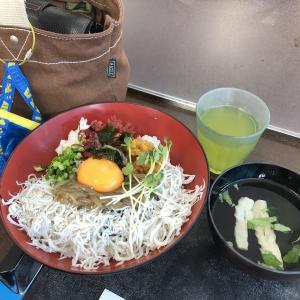 商品を届けに南熱海まで行ってきた帰りに美味しい2色丼たべたよ~♪