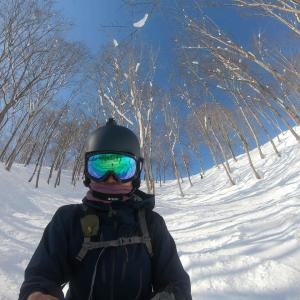 2年前の画像と共に斑尾高原スキー場名物「沢コース」リベンジ♪