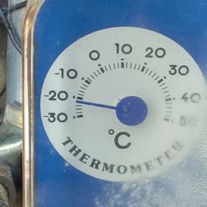 寒いね~  マイナス20℃