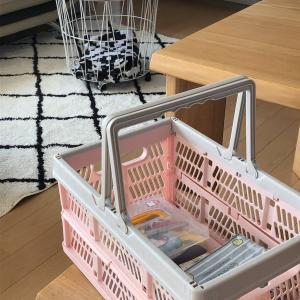 ニトリのキッズインテリアコーナーで発見!家の中で使える折りたたみバスケット