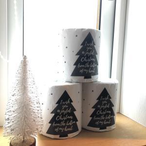 飾るだけでも可愛い!セリアのトイレットペーパーがクリスマス仕様になりました♪