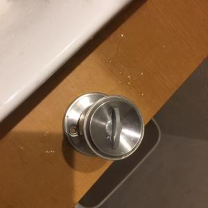 トイレに閉じ込められました。<br />