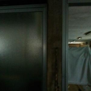1階内側裁断場入り口【さよなら岡南興業ズームアップ020】。