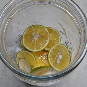 酢橘の酵素シロップを作りましょう(^0^v