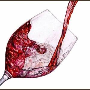 色鉛筆画541 (ワイン)
