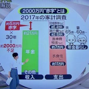 年金では2,000万円不足報道
