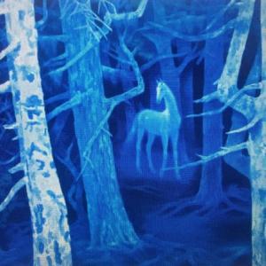 第5話「誠也」は東山魁夷「白馬の森」がモチーフ。