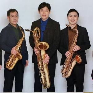 午後の音楽会は心温まるサクソフォーン四重奏団。