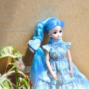 HHさんのリバティ ベッツィ縮小柄でリカちゃんのティアードドレス作成