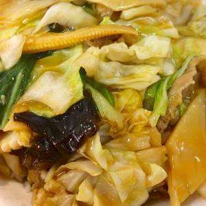 町中華「天龍」の中華丼にお酢をドバッとかけていただきます!