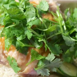 那覇「タケタパーラー」のガッツリ・カオマンガイにパクチーをガッツリのせて…