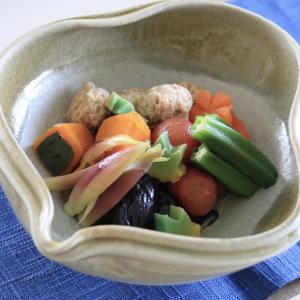 夏野菜の冷やし炊き合わせ☆