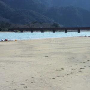 由良川河口でサーフゲーム&アジング