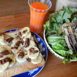 徹底的に節約の見直しを&バナナチョコトースト