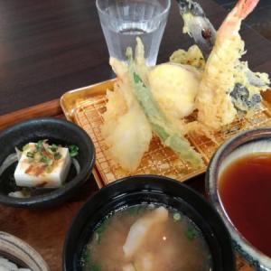 たまには外食・天ぷらランチ
