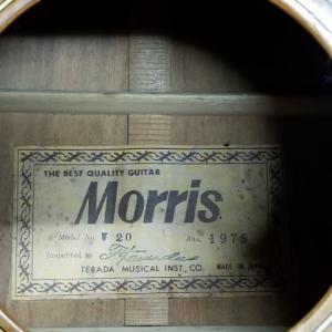 モーリスギターW20の糸巻き交換しました。