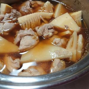 筍と鶏肉の煮物・・・・今日の節約お弁当~♪