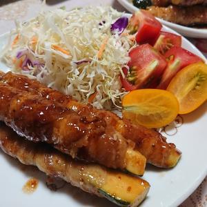 ズッキーニの肉巻き・・・今日のおでかけ節約お弁当~♪