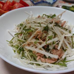 夏大根サラダ^^・・・・今日の節約お弁当~♪