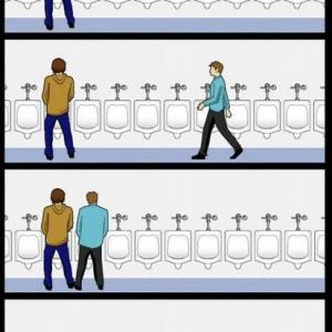 男子トイレでの出来事