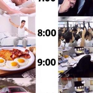 日本とアメリカの1日の違い