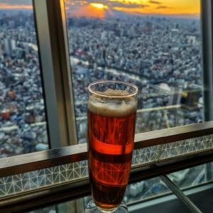 天上340メートルのビール