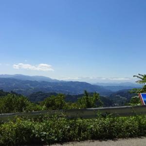 長野県道406号入山小市線から北アルプスを見た