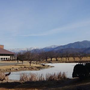 とある2月の寒い日、川中島古戦場史跡公園にて。