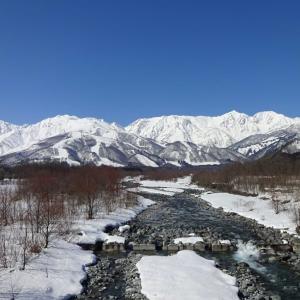 2月の晴れた日の ~ 松川橋
