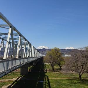 桜はまだなので とにかく北信五岳・・・千曲川河川公園(リバーサイドパーク)