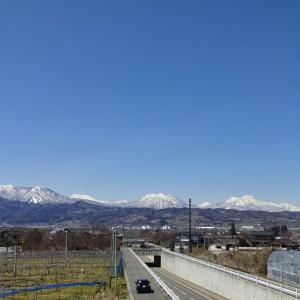 【小布施】 歩道橋の上から北信五岳
