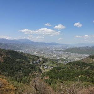 長野県道498号聖高原千曲線~古峠にて善光寺平一望