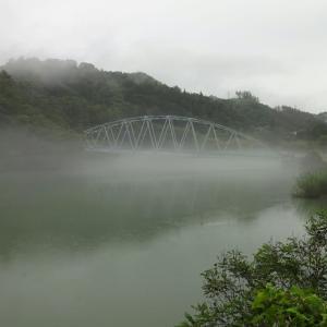川霧煙る犀川 ~御曹司橋&山清路橋~