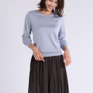 プチプラでも上品に見える服【CLEAR IMPRESSION】ぽかぽか機能素材セーター綺麗色