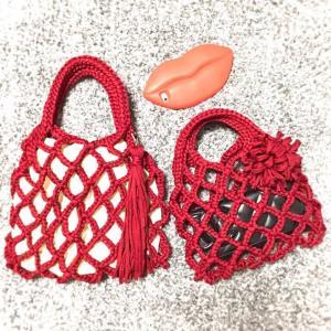 ズパゲッティdeネット編みのバッグ