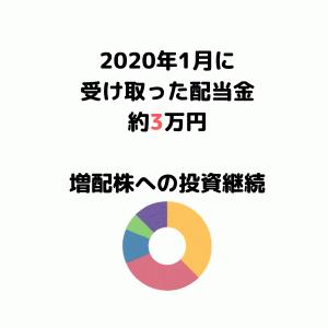 【2020年1月配当金】安定配当株への投資継続。地味だけど安定して勝てる。