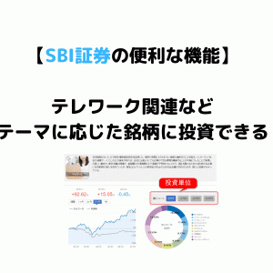 【SBI証券の便利な機能】テーマに応じた銘柄に少額投資が可能!