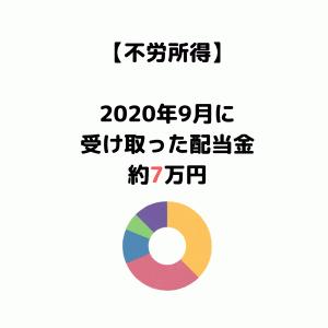 【2020年9月受取配当金】前年比大幅減!配当金を受け取った銘柄