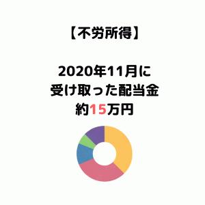 【2020年11月受取配当金】配当金をもらった銘柄&パフォーマンス結果