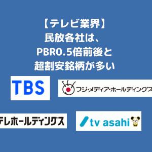 【PBR0.5倍以下も】TBSなどテレビ(民放)銘柄は割安銘柄の宝庫