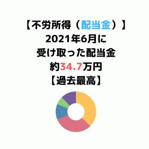 【2021年6月不労所得】配当・優待銘柄とパフォーマンスまとめ