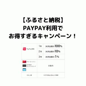 ふるさと納税で100%還元も!7/25まではPayPayを使おう!