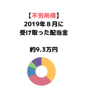 【2019年8月配当金】ブリティッシュ・アメリカン・タバコなどから不労所得・約9.3万円の入金