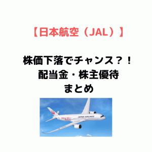 【株主優待は航空券50%割引!】日本航空 JALの配当利回り、配当金など株主還元